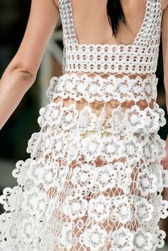 Poptab Flower Dress-Crochet