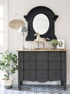 Mango wood and Acacia chest of drawers in grey Colette Acacia, Trumeau Mirror, Vintage Room, Affordable Furniture, Chest Of Drawers, Background Patterns, Decoration, Living Room Decor, Dresser
