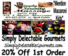 Massage and Chocolate discounts! Yes!!!