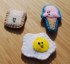 Felt Food Magnets by normandlou, via Flickr