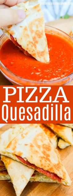These Pizza Quesadilla are the perfect weeknight dinner and fun new way to do pizza night. These Pizza Quesadilla are the perfect weeknight dinner and fun new way to do pizza night. Pizza Quesadilla, Quesadillas, Pizza Recipes, Mexican Food Recipes, Cooking Recipes, Paleo Recipes, Yummy Recipes, Chicken Recipes, Easy Weeknight Dinners
