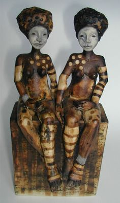 Sally MacDonell, British potter, smoked ceramic and pewter