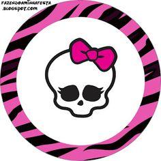 Monster High – Kit Completo com molduras para convites, rótulos para guloseimas, lembrancinhas e imagens! |
