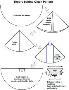 how to make a medieval cloak - Google Search                                                                                                                                                                                 More