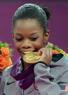 Gabby Douglas (age 16) became the first African-American to win the women's All-Around gymnastics title at the London Olympics 8/2/2012.