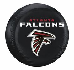 Atlanta Falcons Black Tire Cover - Standard Size