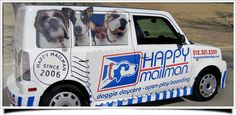 A van to pick up & take home doggy clients! love this idea    Austin Dog Boarding, Kennel & Dog Training Texas - Dog Day Care: Home
