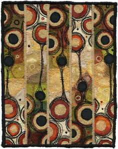 Fabric art by Kirsten Chursinoff - idea with marbled fabrics. Not sure if it's actually a quilt but it is beautiful fiber art. Color and texture is amazing. Textile Fiber Art, Textile Artists, Circle Quilts, Felt Art, Rug Hooking, Fabric Art, Textures Patterns, Lana, Creations