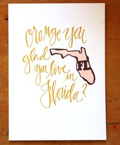 Florida State Series-Letterpress Print. Love the state prints! I want one for each state we've lived in!!