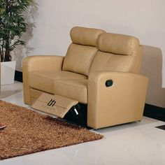 Leather Sofas Get information on BH Design Leather Match Loveseat with Recliners Taupe