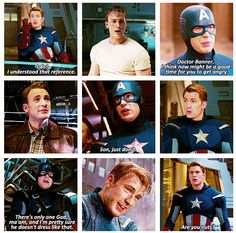 """Captain America! """"It seems to run on some form of electricity!"""""""