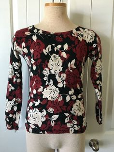 Women's Blouse by Emma & James Size Petite (S) Multi Colors Long Sleeves #EmmaJames #Blouse #Career