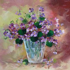Ceva delicat, ceva ce trece repede. Glass Vase, Painting, Home Decor, Perfect Love, Beauty, Violets, Flowers, Vase Of Flowers, Pictures