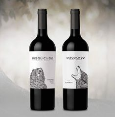 #Packaging #Design #Wines #GraphicDesign #Design #Label #NewProject #Desquiciado #DesquiciadoWines #Beer #Wolf #Illustration