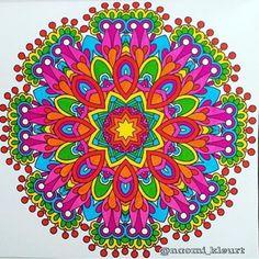 """Beautiful mandala by @naomi_kleurt  Found via @mandalapassion"""