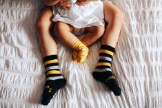 Lamington Socks NZ Made Merino Wool Socks and tights spring release black grey yellow baby fashion warm feet ankle socks stripes spots Baby Yellow, Black N Yellow, Black And Grey, Merino Wool Socks, Baby Socks, Ankle Socks, Grey Stripes, Crew Socks, Tights