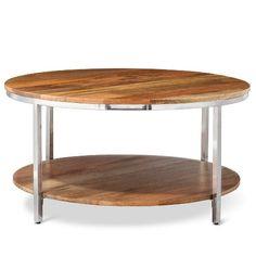 Berwyn Round coffee Table Metal and Wood  - Threshold™