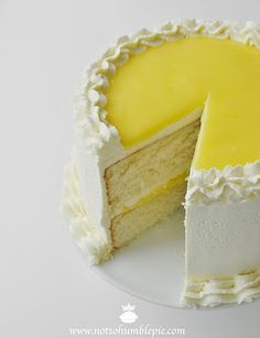 Lemon Mascarpone Cream Cake. I made this! Not this one...mine didn't look this nice.  But it tasted perfect.