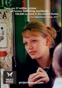 There are 27 million victims of human trafficking worldwide – 100,000 or more in the United States #Humantrafficking Find us at projectrescue.com and on Twitter and Facebook