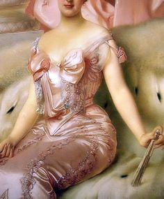 Amelie d'Orleans, Detail. by Vittorio Matteo Corcos, 1905