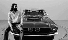 "Jim Morrison with his Night Mist 1967 Shelby Mustang GT 500 that he named ""The Blue Lady"""