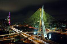 Octavio Frias de Oliveira Bridge, Sao Paulo, Brasil