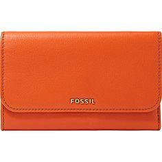 #Fossil, #LadiesSmallWallets, #LadiesWallets - Fossil Memoir Flap Wallet Burnt Orange - Fossil Ladies Small Wallets