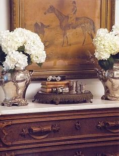 Brown, Caramel Gold, White, Silver - English country house