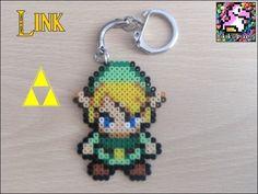 Porte-clés The Legend of Zelda : Link pixel art - perles Hama : Porte clés par rikiki-pixels