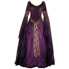 Medieval Dress ❤ liked on Polyvore featuring dresses, medieval, gowns, medieval dresses and costume