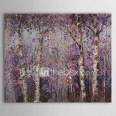 Pintada a mano Floral/BotánicoPastoral Un Panel Lienzos Pintura al óleo pintada a colgar For Decoración hogareña 2018 - $1134.14