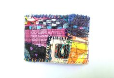 Fused Plastic Bag Wallet. one of a kind. artsy.  itzaChicThing.