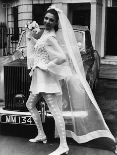 Model in Unconventional Wedding Dress