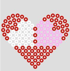 Valentine perler bead by beadmerrily, via Flickr