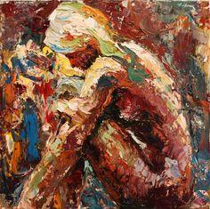 "Saatchi Online Artist: Aileen Brom; Oil, 2012, Painting ""Contemplate"""