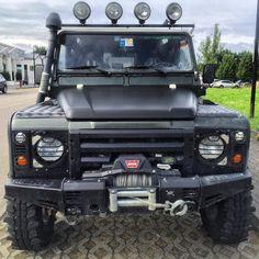 Land Rover Defender 110 Td5 Black is Black.