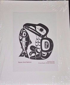 Print by Dempsey Bob Haida Tlingit Tahltan 'Raven And Salmon' British Columbia