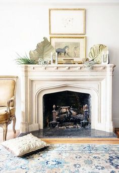 pretty curated mantel
