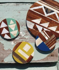 Geometric inlay patterns