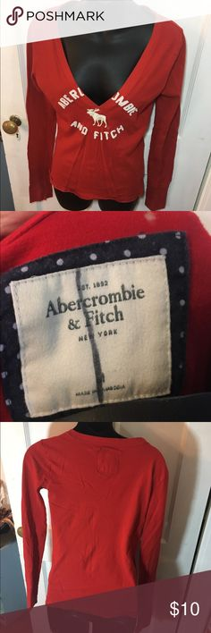 Abercrombie & Fitch Long Sleeve V Neck Shirt -Good condition! MAKE ME AN OFFER!  -Pre loved item -I do not accept offers in the comments so please make all reasonable offers using the offer button only. :) -NO TRADES  -NO HOLDS  -I ship every Monday, Wednesday and Friday  -All items are hand washed before they are shipped out   Instagram- allisonsbeautyboutique  Your purchase is going to help me graduate community college with as little debt as possible. Thank you! Abercrombie & Fitch Tops…
