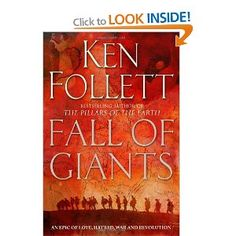 Fall of Giants, Ken Follet- just finished this and not on to second in trilogy. I love historical fiction. Used Books, Books To Read, Ken Follett, Washington, Long Books, Historical Fiction, Book Authors, Book 1, Book Title