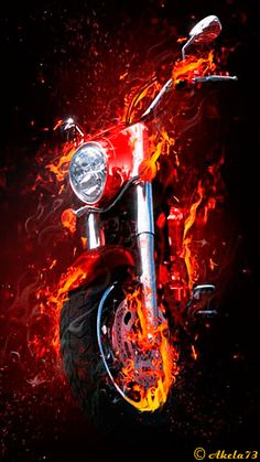 Motorcycles in the heat. Mobile Screensavers available for free download.