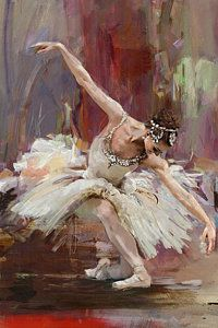 Ballerina Oil Painting - Ballerina 36 by Mahnoor Shah