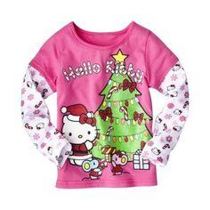 Hello Kitty Infant Toddler Girls' Long-Sleeve 2fer Tee - Pink 3T
