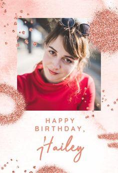 Pink Glitter Shapes - Happy Birthday Card #greetingcards #printable #diy #birthday Birthday Card Template, Printable Cards, Happy Birthday Cards, Pink Glitter, Invitations, Island, Shapes, Free, Happy Birthday Greeting Cards