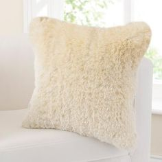 Fine Furry Cushion | Dunelm