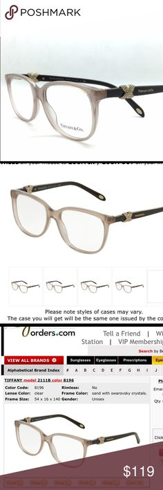 451abde3c250 Authentic Tiffany $280 glasses frames I love these! Nude/ sand colored  frames with iconic