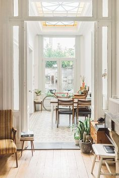 There's plenty of natural light in the perfect house. The ceilings are high and the decor is a pared-back traditional look, in neutral colours.