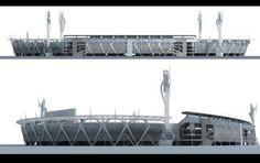 New Facade Stadium Bogota el Campin by Oscar Acosta at Coroflot.com