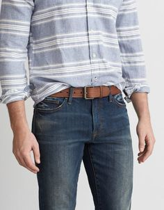 American Eagle Outfitters AE Tooled Leather Belt